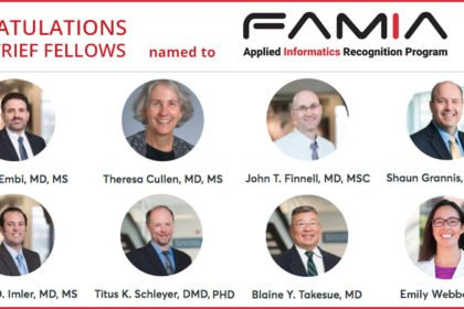 Eight Scientists with Ties to Regenstrief Will Be Inducted into Inaugural FAMIA Class