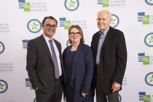 Dr. Boustani, AIHS CEO Connie Benton Wolfe, Actor Mike Farrell