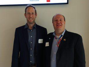 Dr. Buckeridge and Dr. Brian Dixon at population health informatics workshop