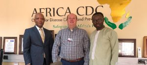 Dr. Brian Dixon with officials from the Africa CDC