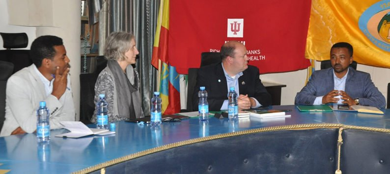Dr. Theresa Cullen and Dr. Brian Dixon meet with officials at University of Gondar, Ethiopia