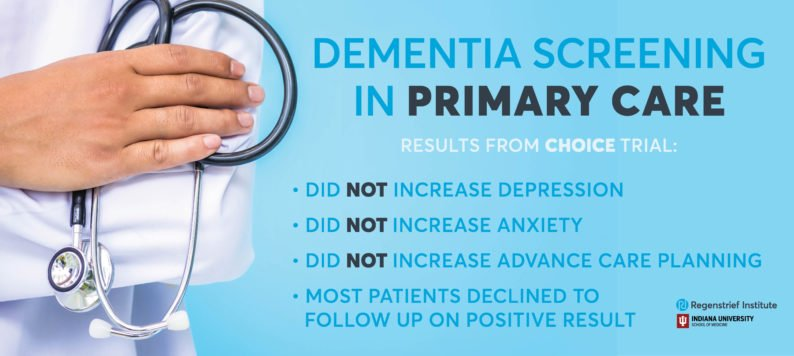 Dementia screening primary care