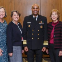 IU Center for Global Health staff and faculty pose with US Surgeon General Dr. Jerome Adams
