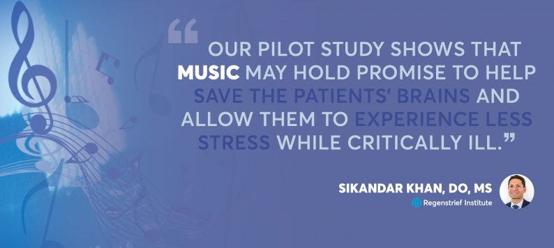 Quote about potential of music to decrease delirium in ICU patients