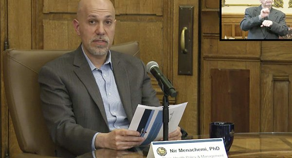 Nir Menachemi at Indiana Statehouse briefing