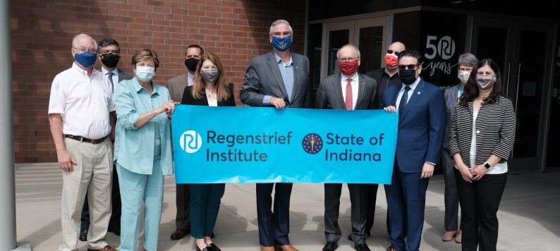 Regenstrief leaders and Gov. Holcomb gather for announcement of Regenstrief Institute Recognition Week