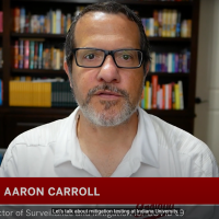 Dr. Aaron Carroll is IU Director of Surveillance and Mitigation