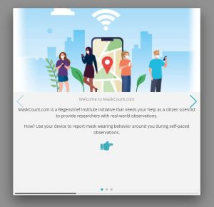 MaskCount welcome screen