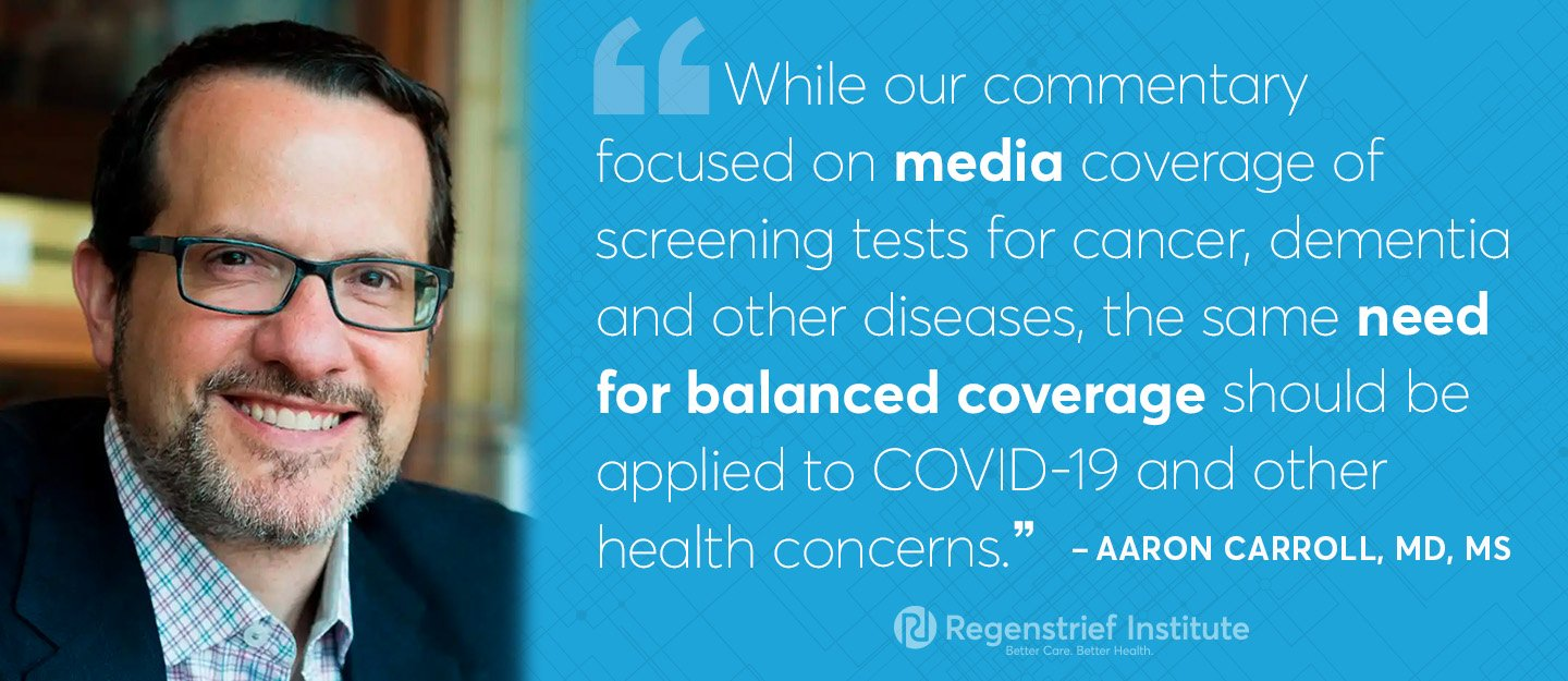 Media coverage of health, especially disease screening, is often not sufficiently nuanced