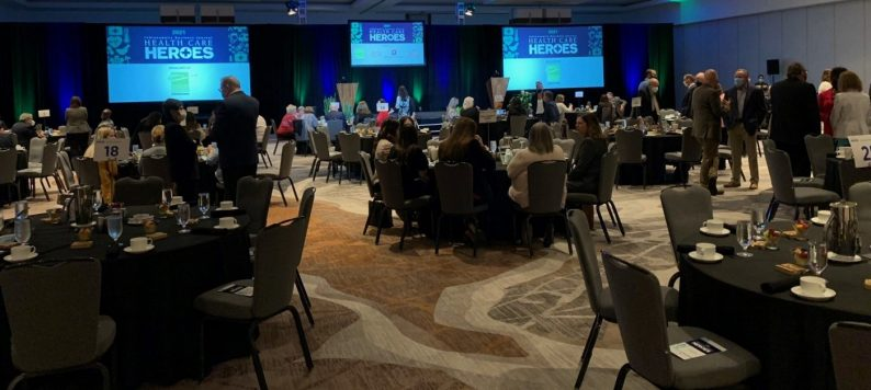 Indianapolis Business Journal breakfast for Health Care Heroes.