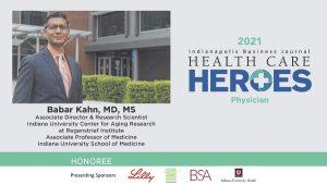 Dr. Babar Khan Health Care Hero nomination screen